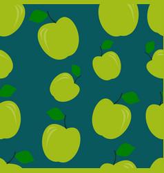 Green apple pattern seamless pantone vector