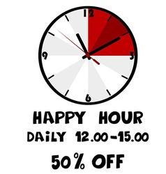 Happy hour banner vector image