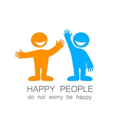 happy people template vector image