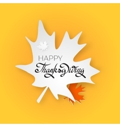 Happy thanksgiving day greeting card with hand vector image