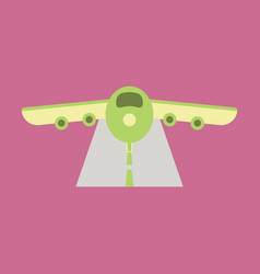 icon in flat design for airport airplane runway vector image