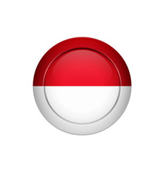 indonesian flag on the round button vector image
