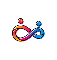 infinity people logo and symbols infinity vector image
