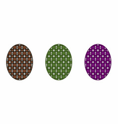 isolated easter egg colorful vector image