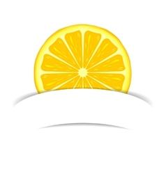 Lemon with paper banner vector