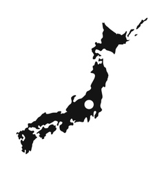 Map of Japan icon simple style vector image