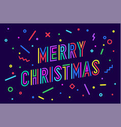 Merry christmas greeting card with text vector