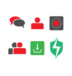 mobile phone icons image vector image