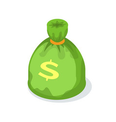 money bag with dollar sign isolated crowdfunding vector image
