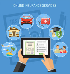 online insurance services vector image
