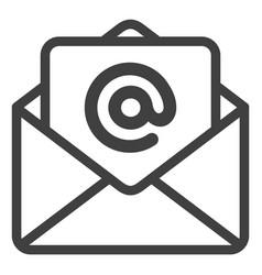 Open e-mail flat icon symbol vector