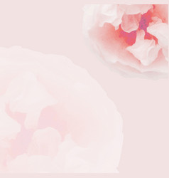 Pink pastel rose poster vector