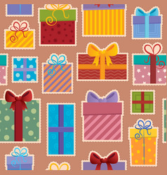 seamless background gift theme 3 vector image