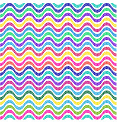 seamless pattern with multicolored wavy lines vector image