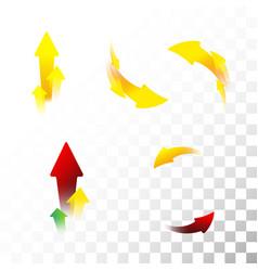Set of arrow icons flat vector