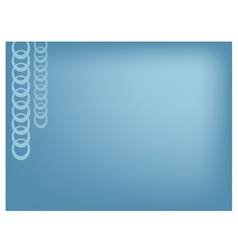 Silver Chain on Blue Background vector image