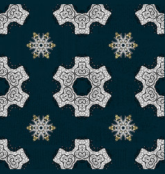 Sketch baroque damask pattern floral pattern vector