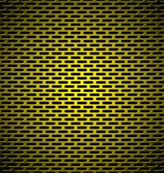 slot grill gold metal background vector image