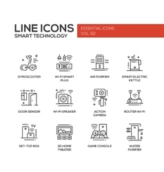 Smart Technology- line design icons set vector