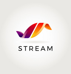 stream abstract logo symbol icon vector image