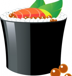 sushi roll vector image