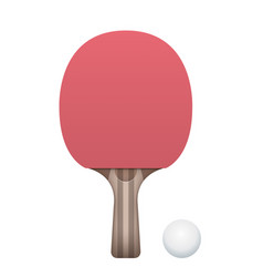 table tennis paddle and ball vector image