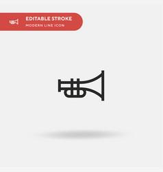 trumpet simple icon symbol vector image