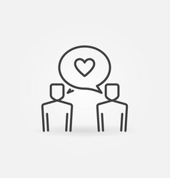 two people talking outline icon or design vector image
