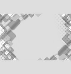 white and gray square vector image