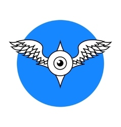 Winged Eyeball vector image