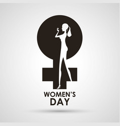 womens day gender symbol with girl vector image