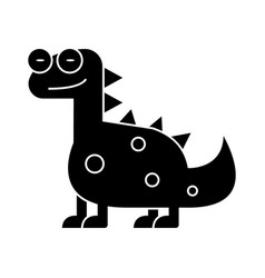 dino - dinosaur cute icon vector image