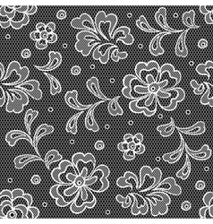 Lace fabric seamless pattern with abstact flowers vector image vector image