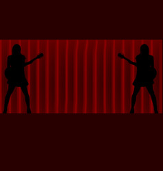 on stage vector image vector image