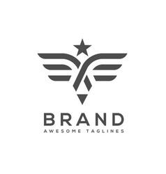 best wings logo simple vector image