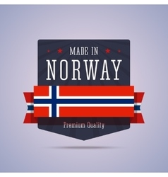 Made in Norway badge vector image