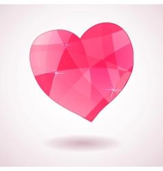 Pink geometric heart vector image vector image