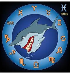 Pisces Zodiac Sign Fish vector image