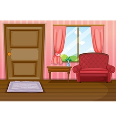 An empty living room vector image vector image