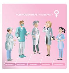 cartoon healthcare medical collection vector image vector image