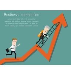 Finish Line Success business concept cartoon vector image vector image