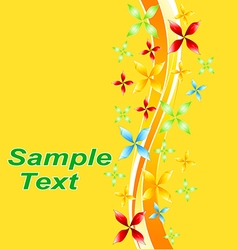 Flora pattern decorative decoration background flo vector image vector image