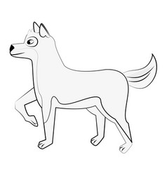 cute dog cartoon vector image