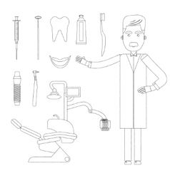 Flat dentist workplace vector image