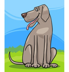great dane dog cartoon vector image vector image