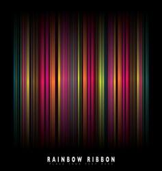 rainbow stripe background vector image vector image