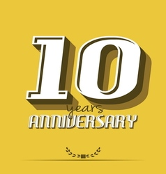 10 year an7 vector image