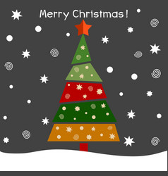 a christmas fir tree vector image