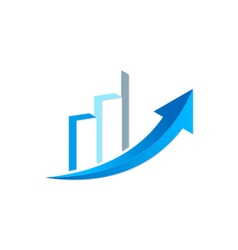 arrow business finance chart trade logo vector image vector image