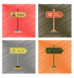 assembly flat shading style icons sign of bar post vector image